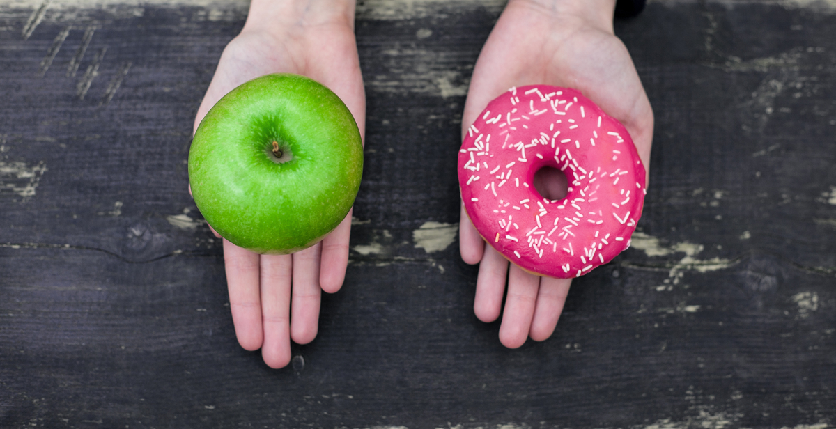 Apple and a Donut, which will be your choice